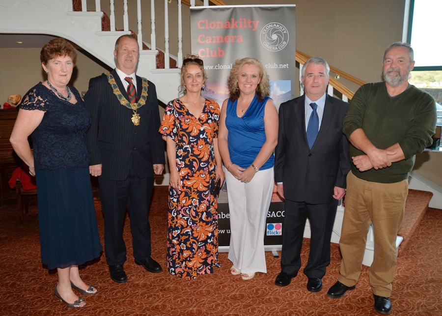 l to r. Kathleen Hayes (out-going chair), Anthony McDermott (Mayor of Clonakilty), Maeve Hurley, Karen O'Mahony (both The Rainbow Club), Diarmuid O'Sullivan (Irish Yoghurts), Nicholas Cooper (in-coming chair).